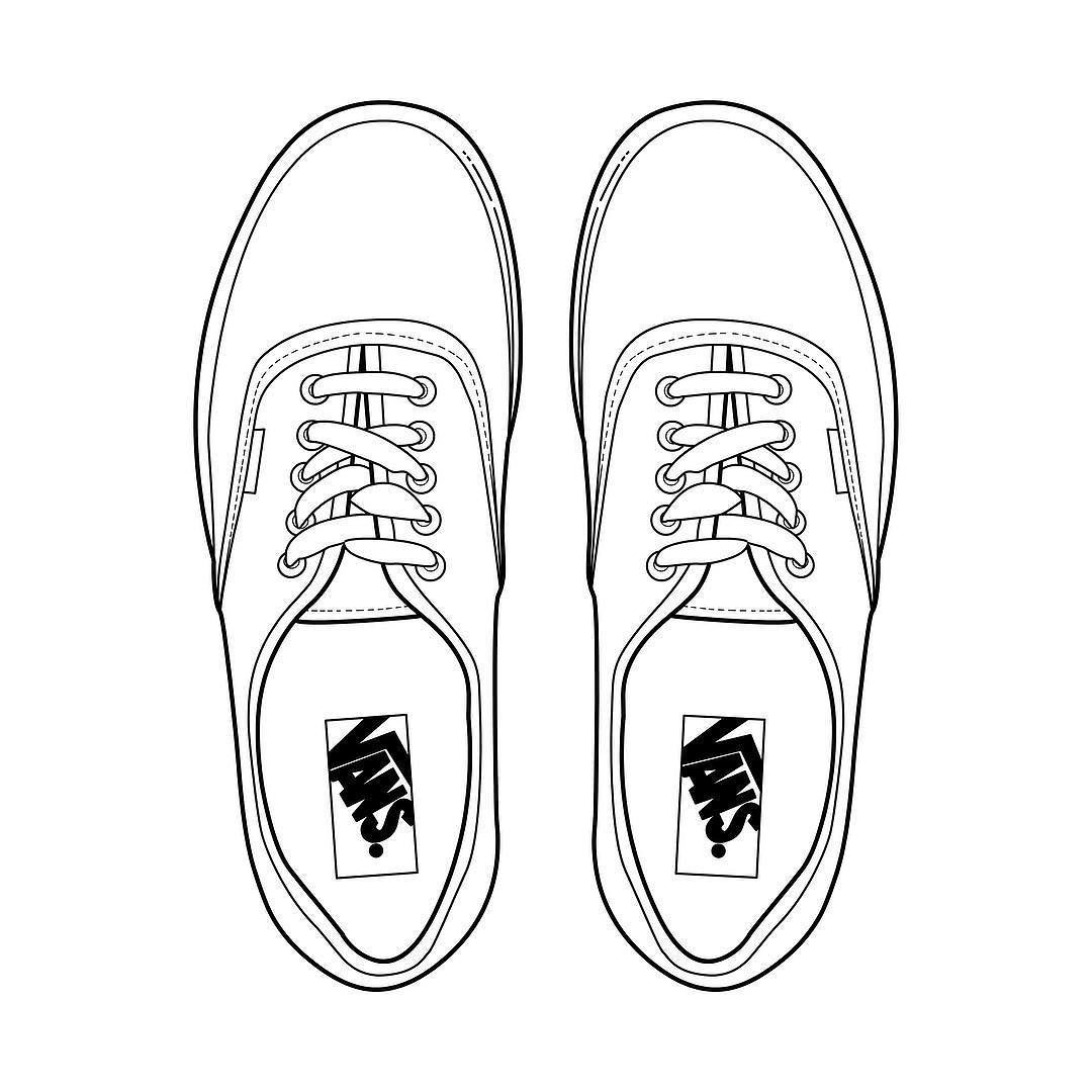 Top view template of vans shoes - Google Search | Art- Sketchbook ...