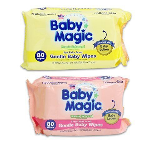 Baby Magic Gentle Baby Wipes Hypoallergenic Multi-Pack of 4 320 Wipes
