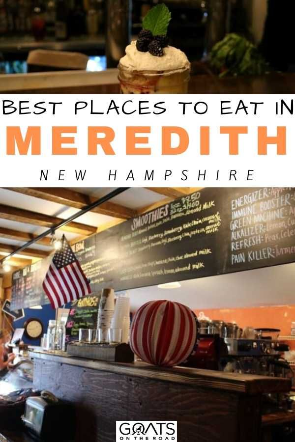 Heading to Meredith, New Hampshire? Can't decide on where to eat? Check out the best places to eat in Meredith, New Hampshire this year! There's a variety of places to enjoy and experience the food of Meredith, NH. Check out this foodie guide and don't go on an empty stomach in this beautiful town! | #NewHampshire #USAtravel #foodtravel