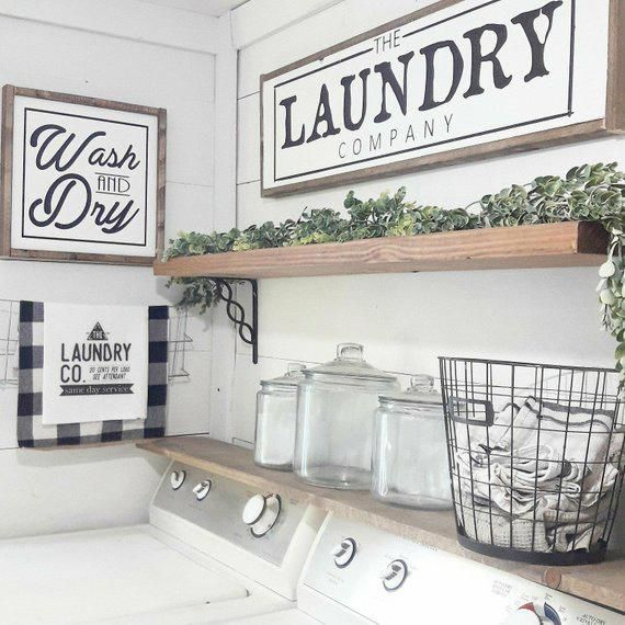Wash and Dry Laundry Room Decor Modern Farmhouse Laundry Sign Laundry Room Sign images