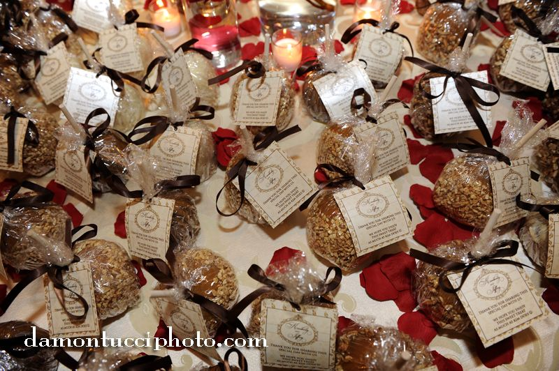 Wedding Favors Caramel Apple favors a personal favorite of the bride