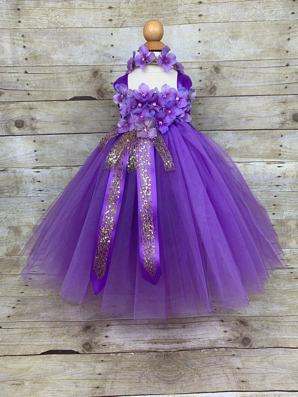 Purple Tutu Dress Hydrangea Headband 9 To 24 Mos Baby Etsy Flower Girl Dresses Tutu Gold Tutu Dress Purple Tutu Dress [ 3000 x 2250 Pixel ]