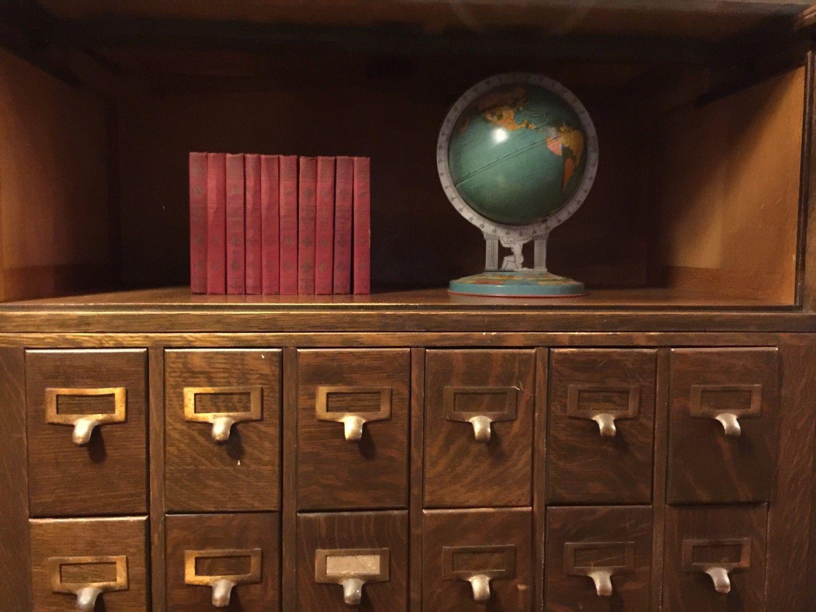 Details about Antique Globe Wernicke Quartersawn Oak Sectional