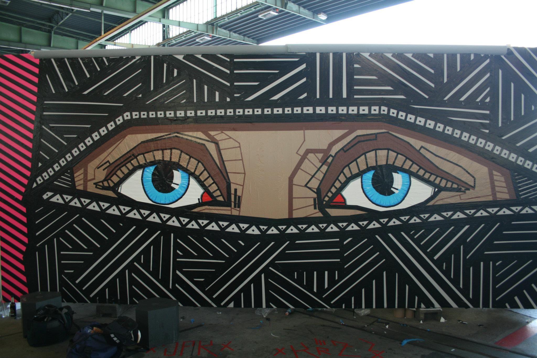 Tape Art Face | Tapeart | Pinterest | Tape art