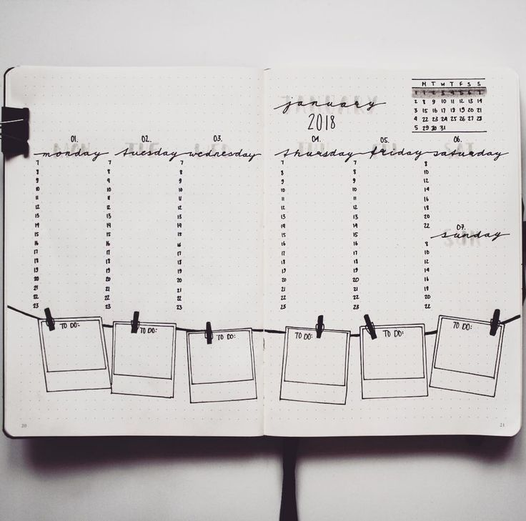 """Let's (sm)art on Instagram: """"WEEKLY SPREAD 1. Throwback to my layout of week one 2018. I tried to keep the photography theme I started with on the first page of…"""""""