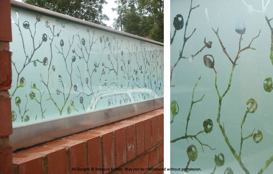 Sandblasted architectural glass design for The Art House ...