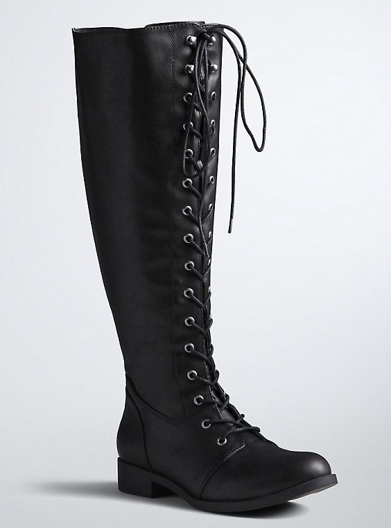 5d3134f79d23 Lace Up Tall Riding Boots (Wide Width   Wide Calf)