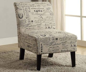 Best Gray Script Armless Accent Chair In 2019 Printed Accent 400 x 300
