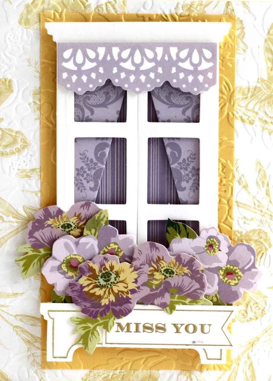 August 2017- Window Ledge Card Making Kit | Card Kits | Pinterest ...