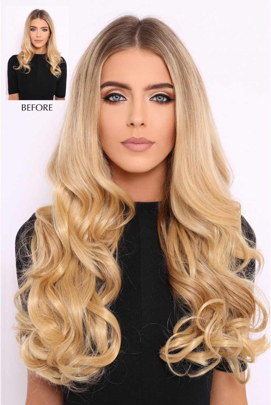 Super Thick 250g 8 Piece Curly Hair Extensions Beautiful Long