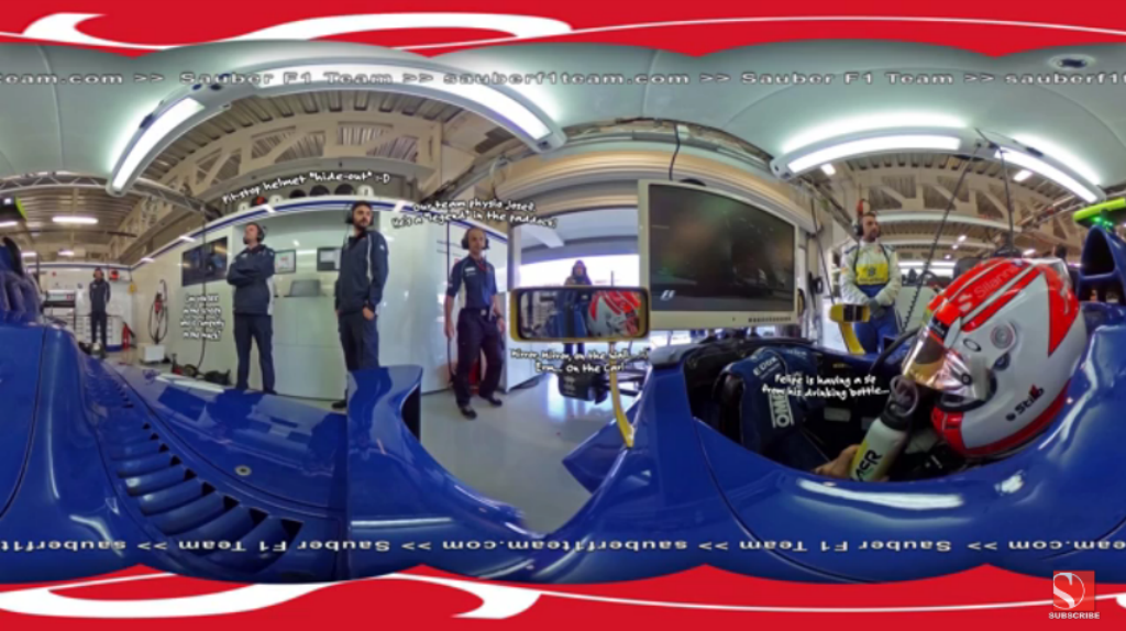 Sauber F1 Team: F1 In 360° - Mexican Grand Prix (VIDEO)