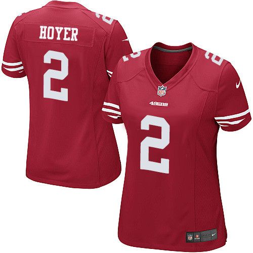 Women's Nike San Francisco 49ers #2 Brian Hoyer Limited Red Team Color NFL  Jersey