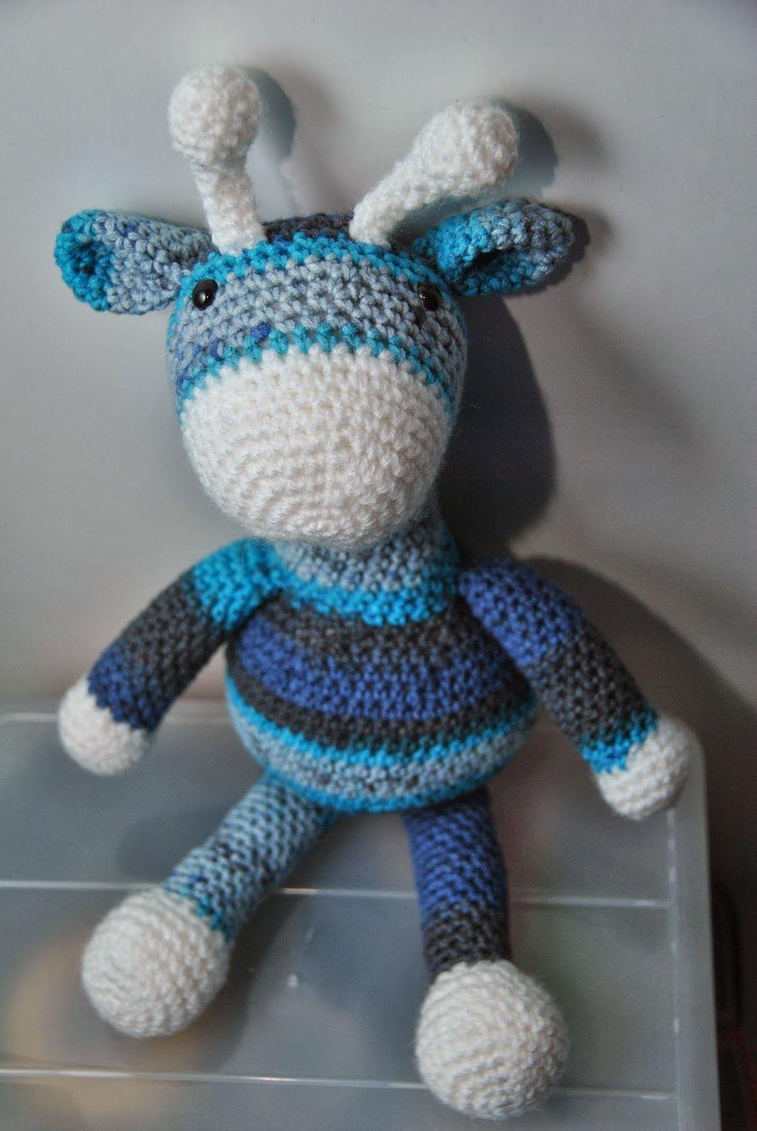 Blue the giraffe