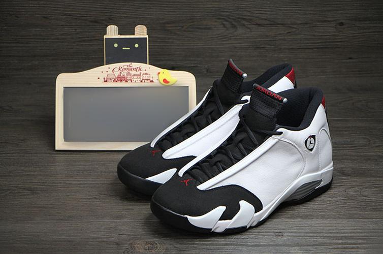 2eda6bf2056 487471-102 Air Jordan 14 Retro Black Toe White Black Varsity Red Metallic  Silver Colorway