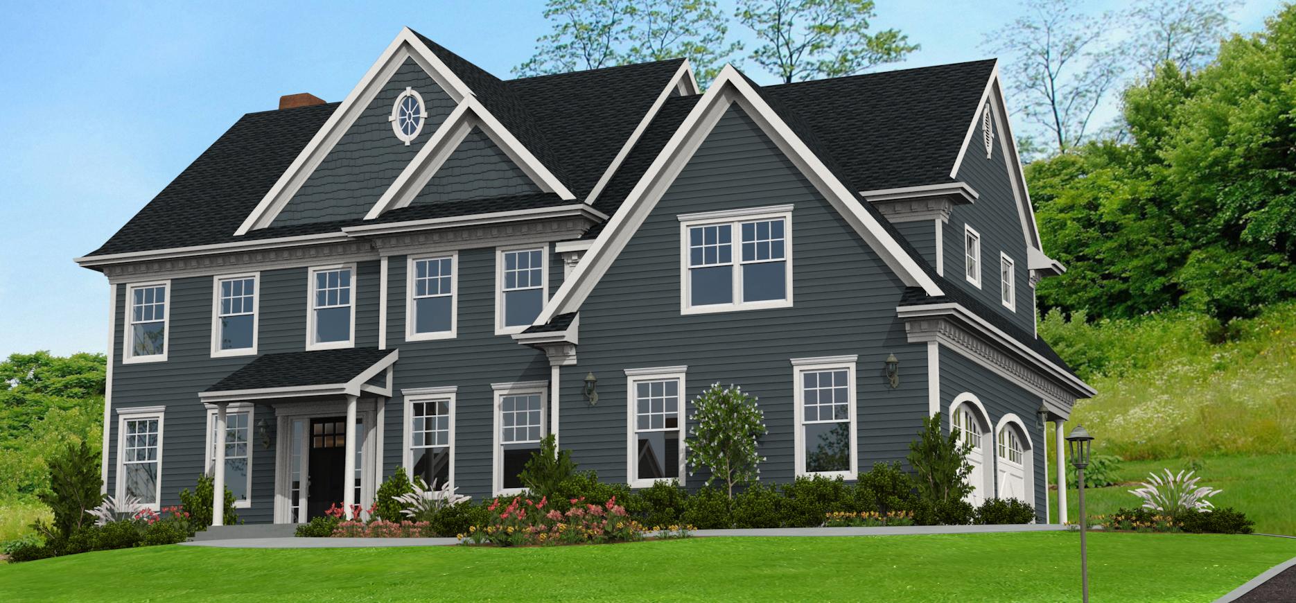 Image result for smokey blue siding My dream house Pinterest