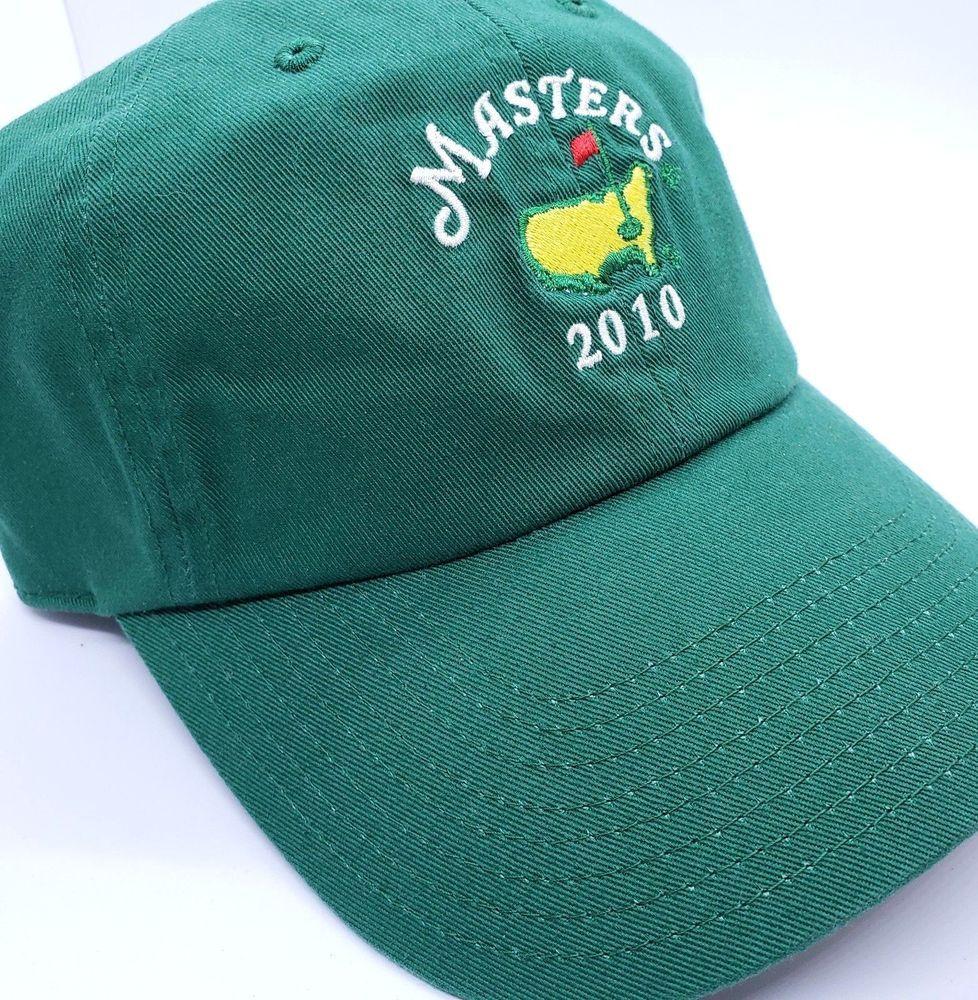 2010 MASTERS Hat Cap Augusta National Golf Green Mickelson Wins Strapback  Cotton  AmericanNeedle  BaseballCap 891739851773