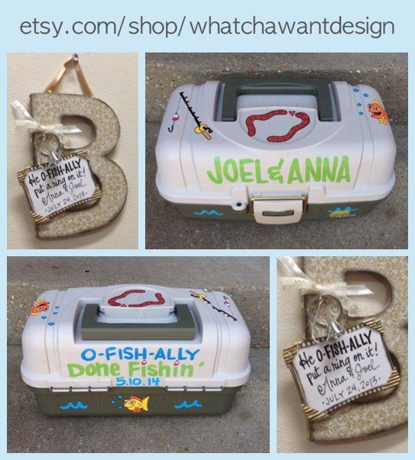 """Cute Wedding Party Ideas: Cute Idea For Fishing Themed Engagement Party!! It's """"O"""