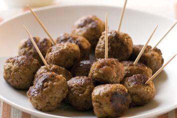 Saucy meatballs
