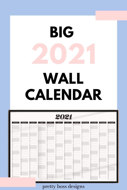 2021 Calendar Printable In 2020 Wall Calendar Calendar Printables Family Command Center