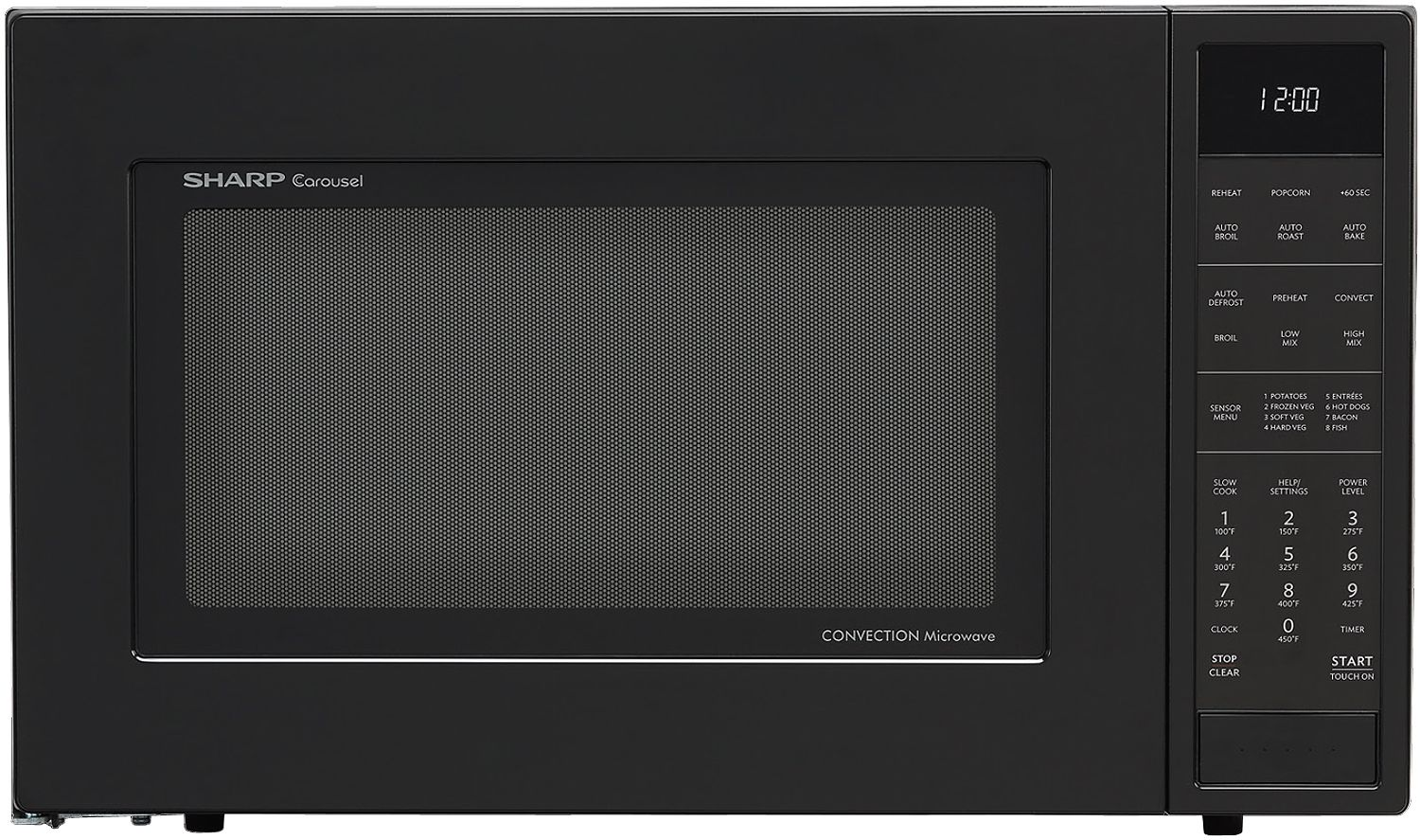 Sharp Black Convection Countertop Microwave Stainless Steel