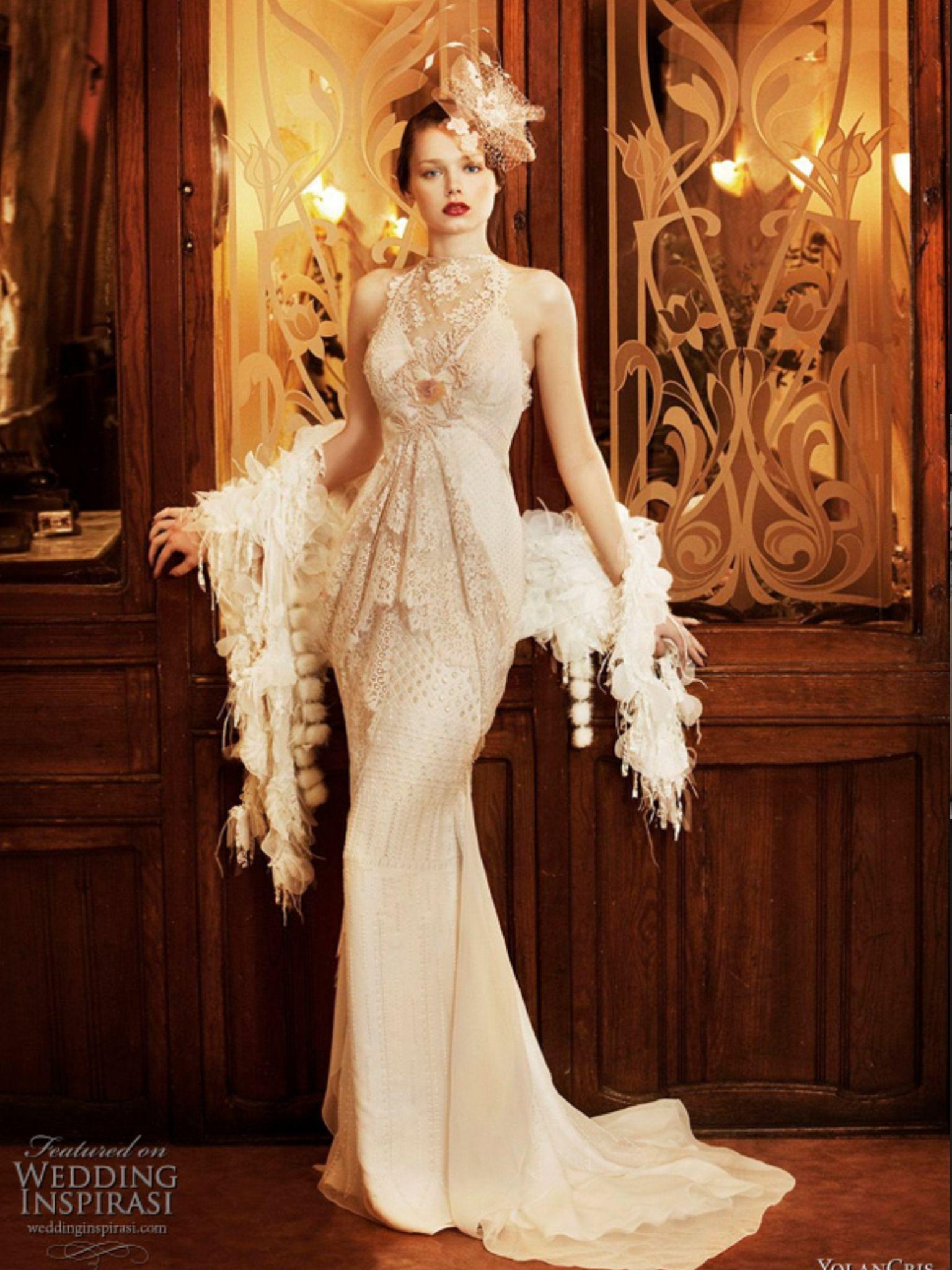 1920's style wedding dress Vintage dresses, Wedding