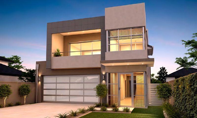 Love This Two Storey Narrow Lot Home Design Modern House Plans Minimalist House Design Modern Minimalist House