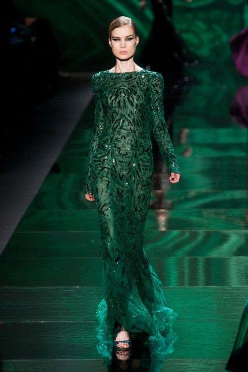 Vestidos de fiesta largos de color verde