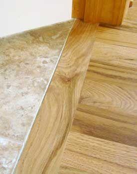 Header Board Used Against Tiled Floor Flooring Tile To Wood