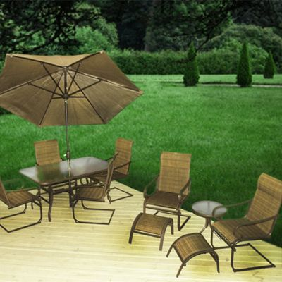 Patio Furniture | Sunrise 10 Piece Sling Spring Dining Collection   American  Sale