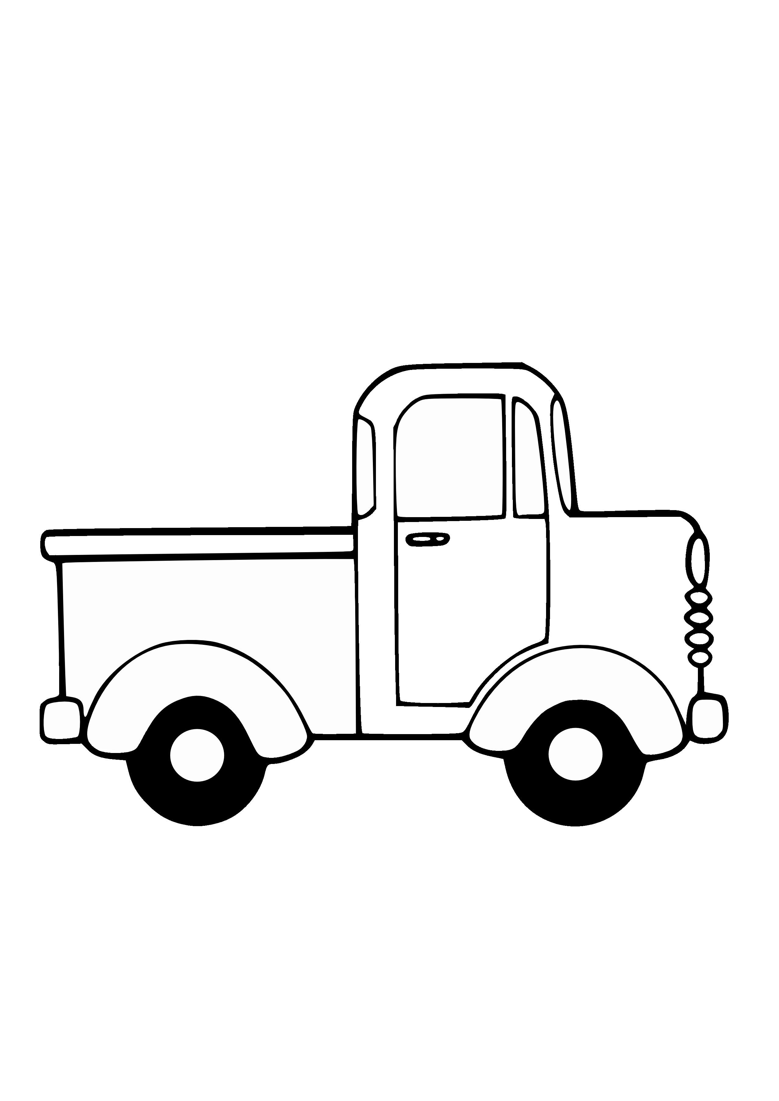 Truck Clipart Black And White Free Truck Coloring Pages Clipart Black And White Coloring Pages