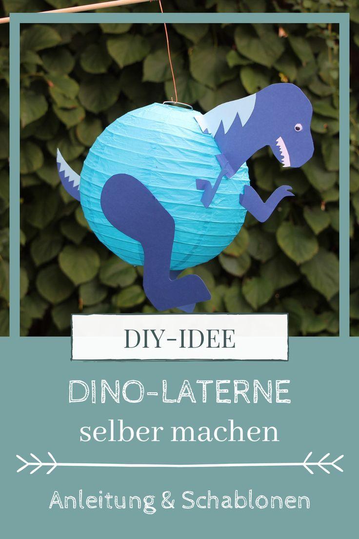 DIY: Pferde-Laterne und Dino-Laterne basteln - Lavendelblog #dinosaurart