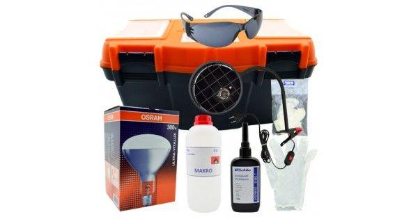 UV yapıştırma işlemleri için tüm ihtiyaçların karşılandığı settir.UV yapıştırma Seti:- 100 Gram Bohle UV Yapıştırıcısı- 300 Watt Osram UV Yapıştırma Ampülü- UV Ampül için Güvenli Duy- UV Işığından Korunmak İçin Özel UV Gözlük- 1 Litre Yüzey Temizlemek için Alkolve t