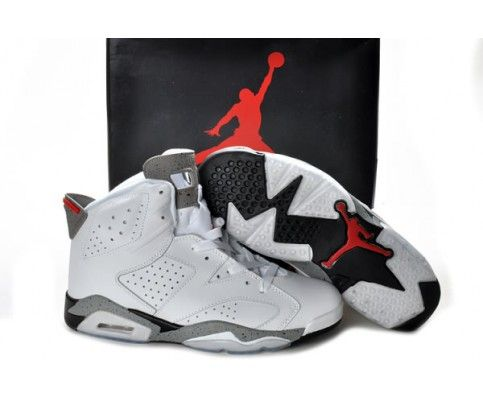 Discount Sale On Sale Air Jordan VI 6 Retro Mens Shoes Online Outlet White Grey In the UK online