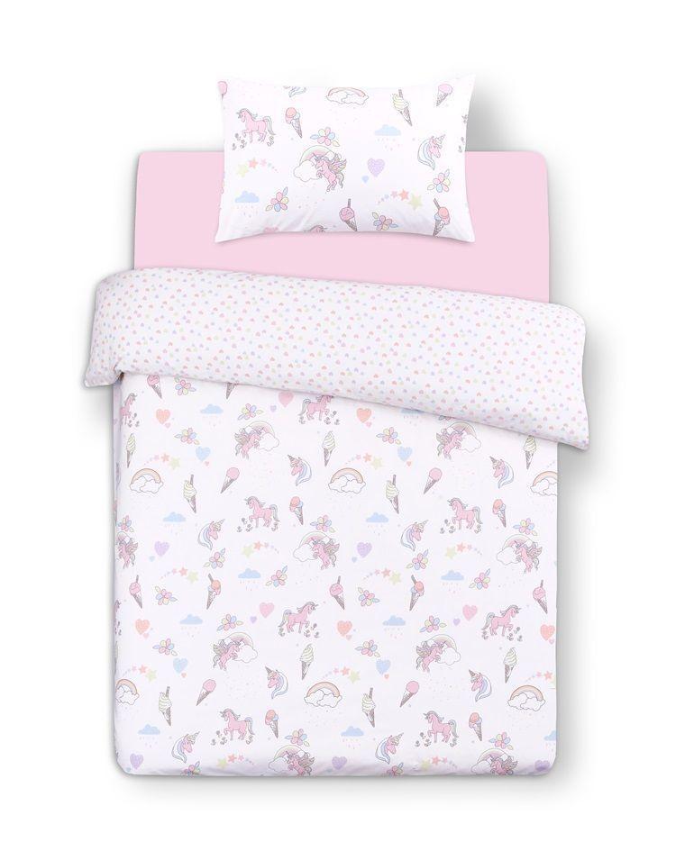 Primark Unicorn Dream Print Duvet Cover Reversible Bed Set