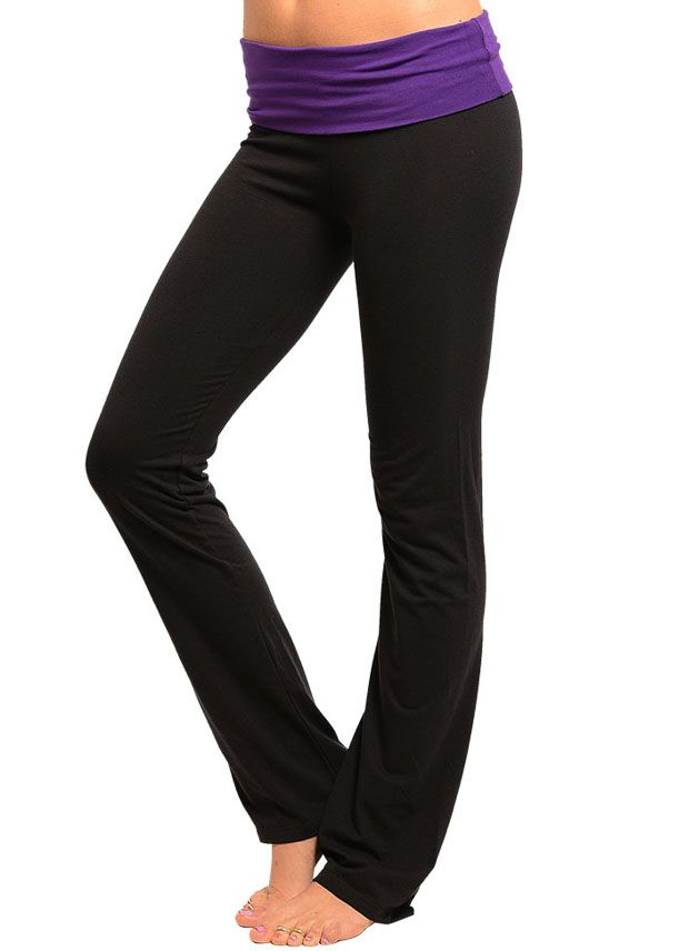 510b70098bca1 Cheap Trendy Purple and Black Yoga Pants in ACTIVEWEAR Cheap Clothing Stores,  Workout Pants,