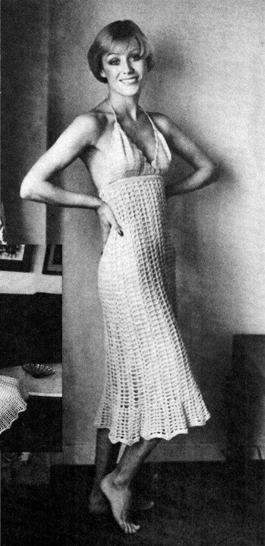 Vintage 70 S Crochet Mini Dress Pdf Pattern By Kinsiewoolshop Crochet Mini Dress Vintage Crochet Dresses Crochet Fashion