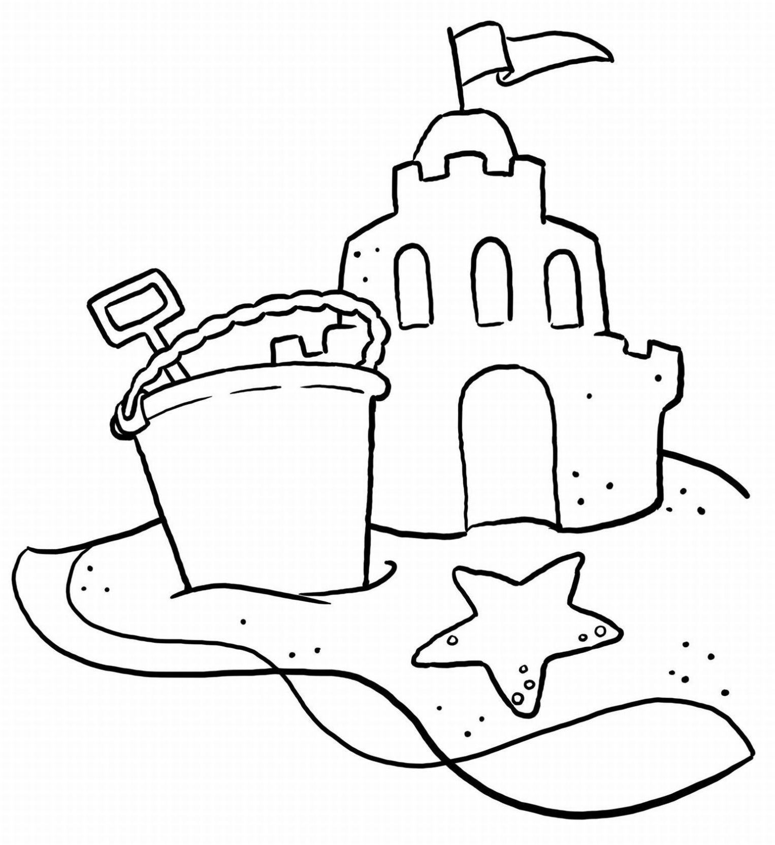Beach Coloring Pages Printable - http://www.coloringoutline.com ...
