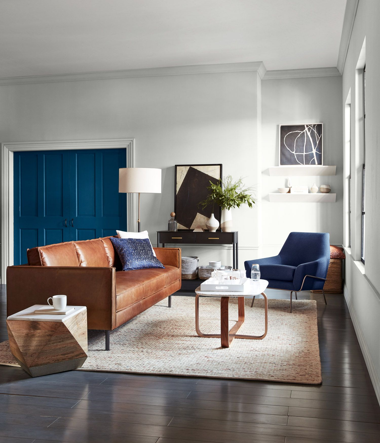West Elm Small Space Living And Dining In One Diseno De