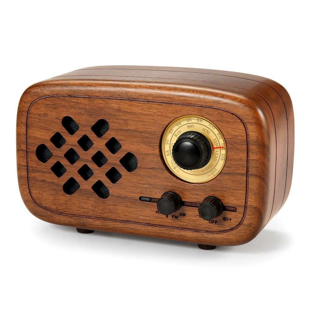 Vintage Wooden Bluetooth Radio Retro Portable Wireless Speakers Fm