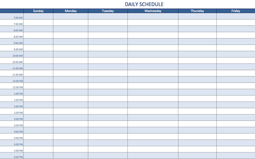 A Schedule Is Important For Every Aspect Of Your Life It Not Only