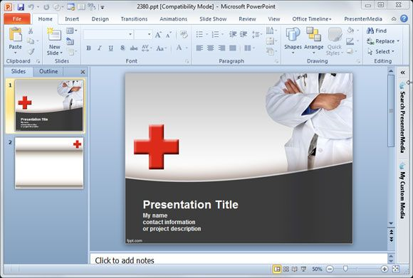 Medical Powerpoint Ppt Templates Free Download Premium Healthcare