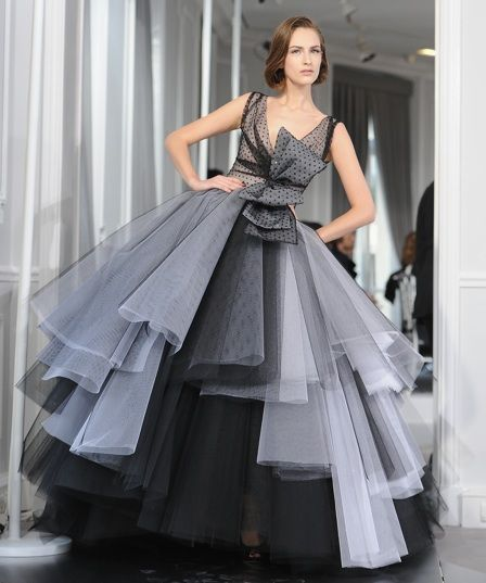 Christian Dior Couture Polka Dot Gown