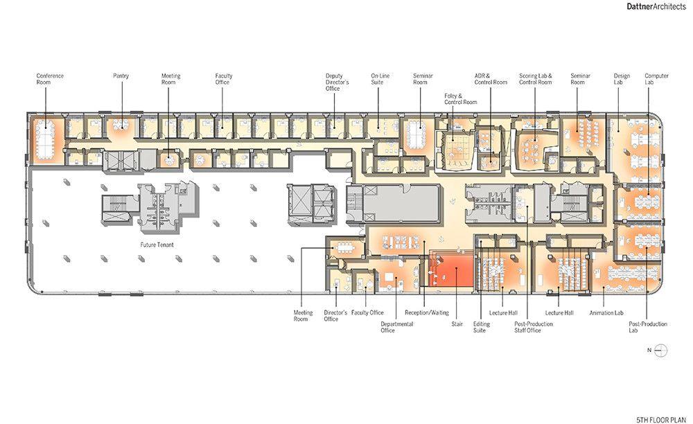 Architecture School Plan brooklyn-design-architecture-dattner-feirstein-film-school-navy