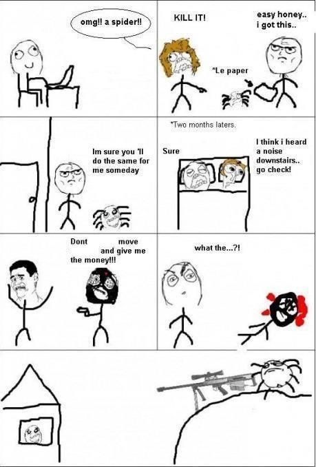 Why To Save A Spider Rage Comics Derp Comics Stupid Funny Memes