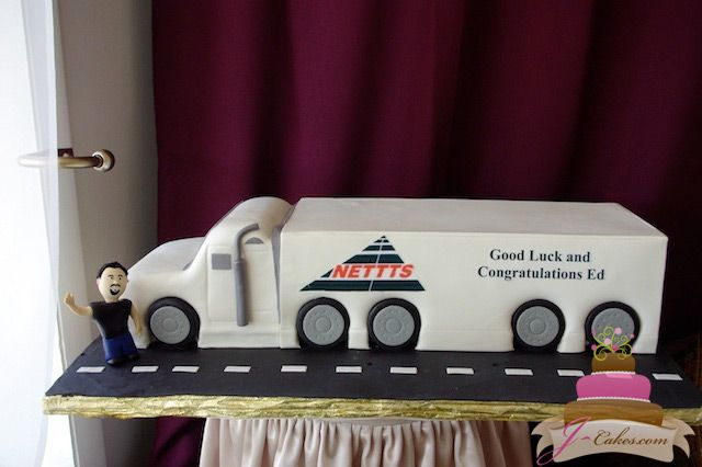 822 Tractor Trailer Shaped Cake Anniversary Grad Special