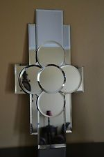 BEVELED MIRROR WALL ART HANGING CONTEMPORARY MODERN MIRRORS MITRE JOINT LORRAINE