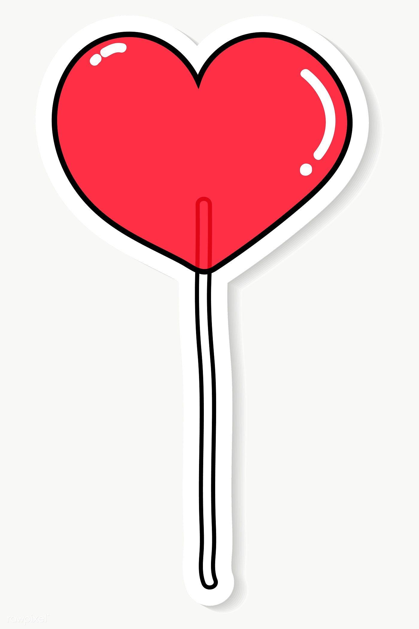 Download Premium Png Of Red Heart Lollipop Transparent Png 2034547