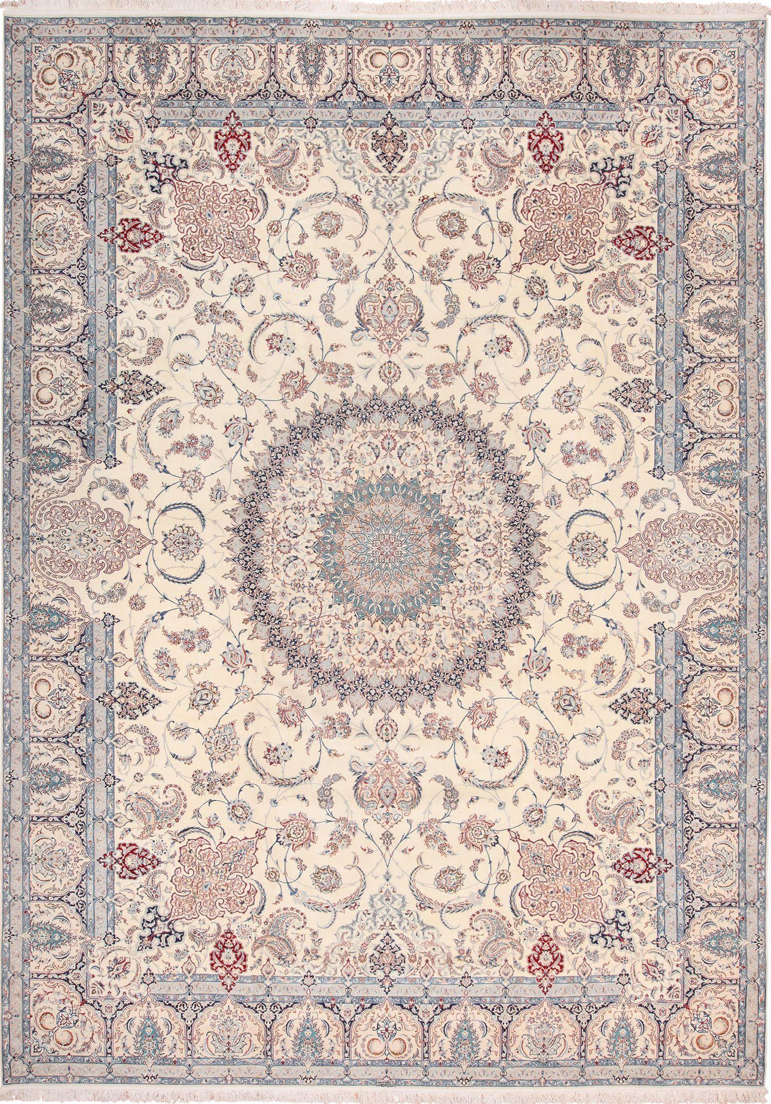 Vintage Silk And Wool Large Nain Persian Rug 60029 Persianrug Vintage Silk And Wool Large Nain Persian Rug 60029 By Nazmiyal Bej Hali Acem Halisi Kilim