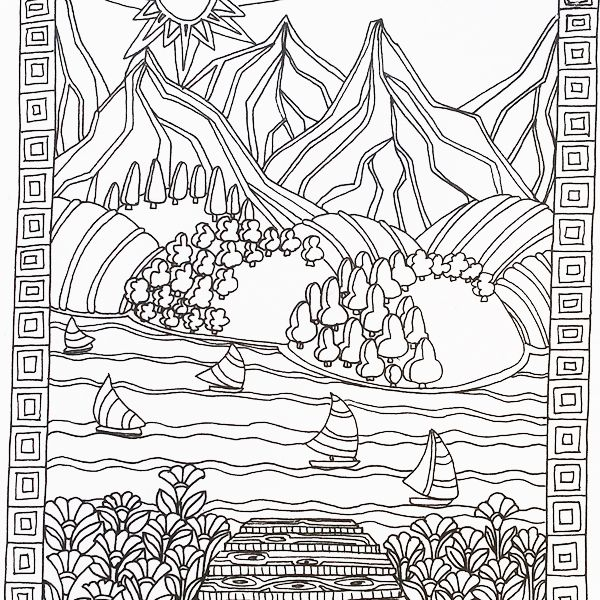 Color Me Calm adult colouring book by Art Therapist Lacy ...