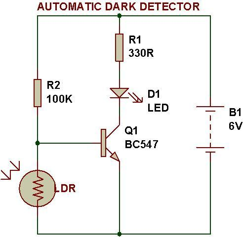 Dark and #Lightsensor using #transistorBUILDCIRCUIT | Electronic ...